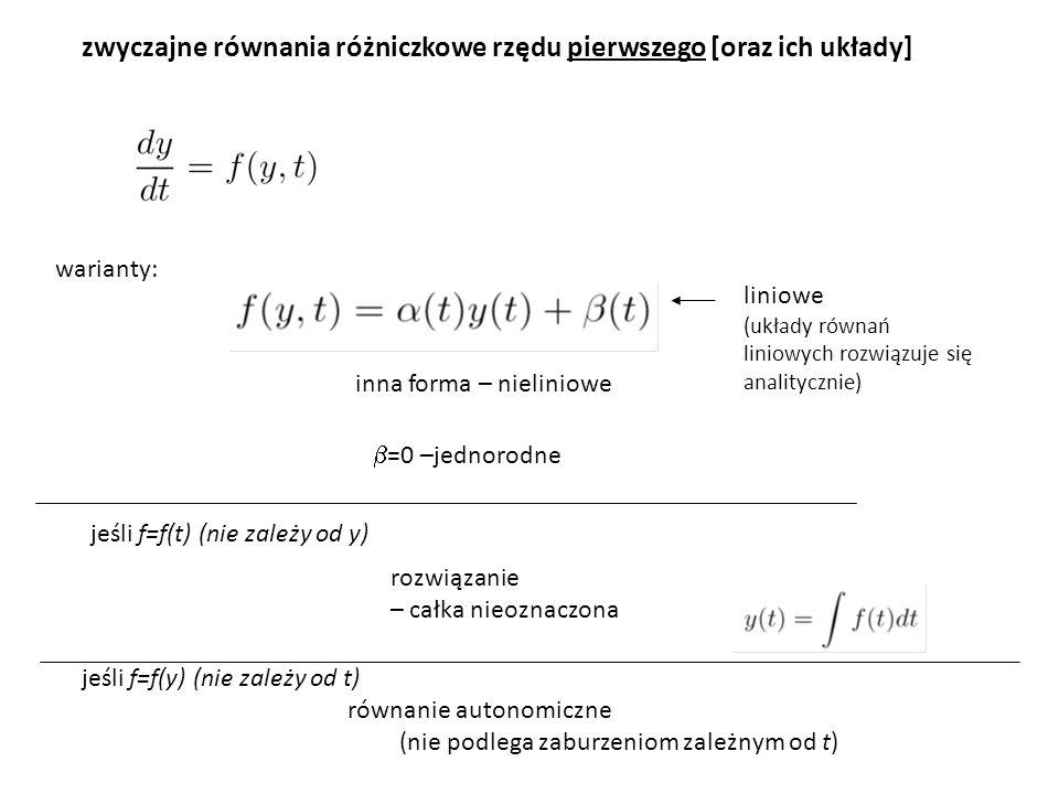 zwyczajne równania różniczkowe rzędu pierwszego [oraz ich układy]